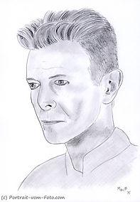 David Bowie - Zeichnung von Manfred Hilberger