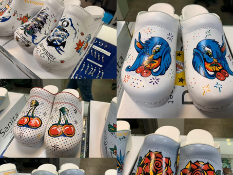 Dutch Tattoo Shop Decorated the Clogs of Medical Staff