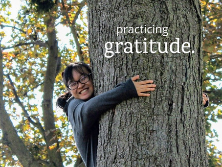 practicing gratitude.