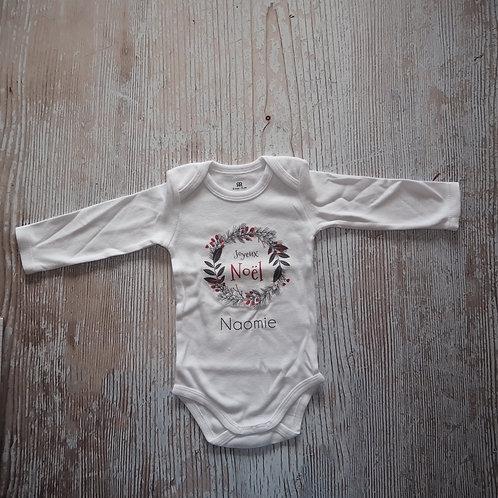 Body bébé Noël personnalisé