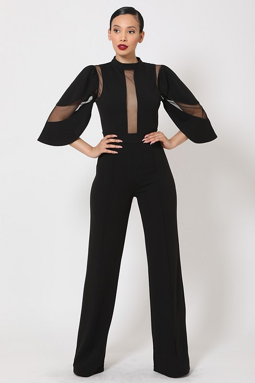 Semi Sheer Jumpsuit