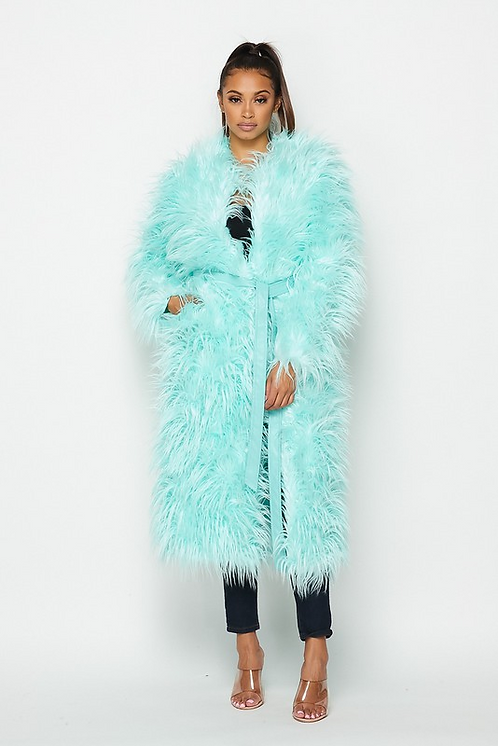 Mint Shaggy Coat
