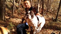 The family hiking in Shenandoah Natl. Park, Virginia.