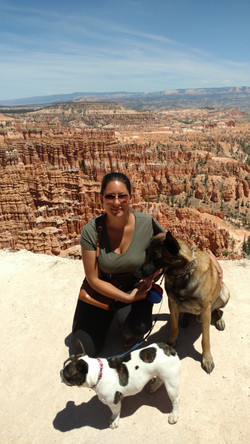 Taking the dogs on a hiking trip to Bryce Canyon Natl. Park, Utah.