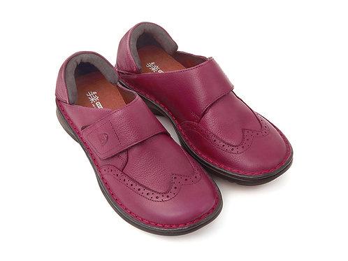 手楽靴 女性用 ルビー色