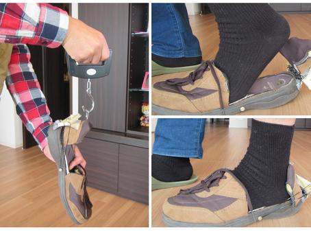 履き心地と閉じる力の測定《手楽靴(てらくくつ)開発日誌6》
