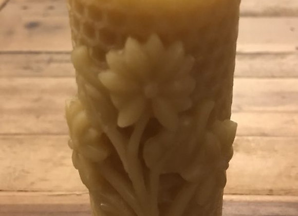 Beeswax Candle - Honeycomb Flower