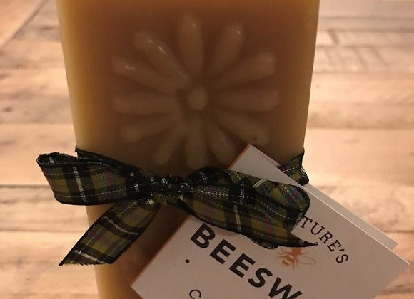 Beeswax Candle - Flower Block