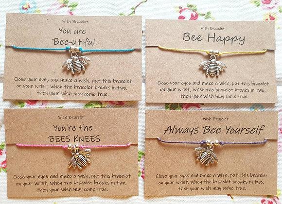 Bumble Bee Wish Bracelet