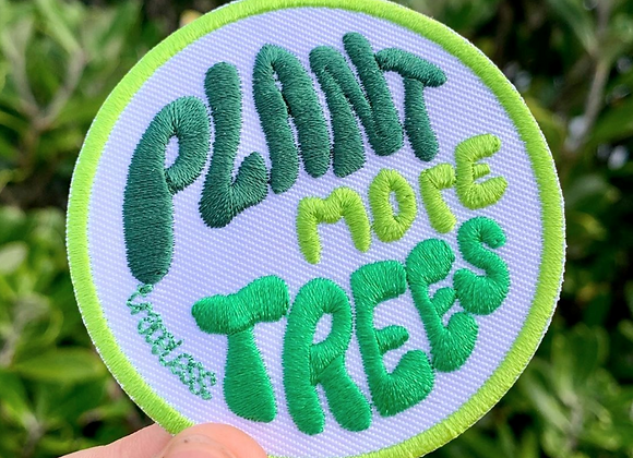 Plant More Trees Iron On Patch