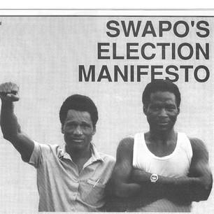 SWAPO's election manifesto