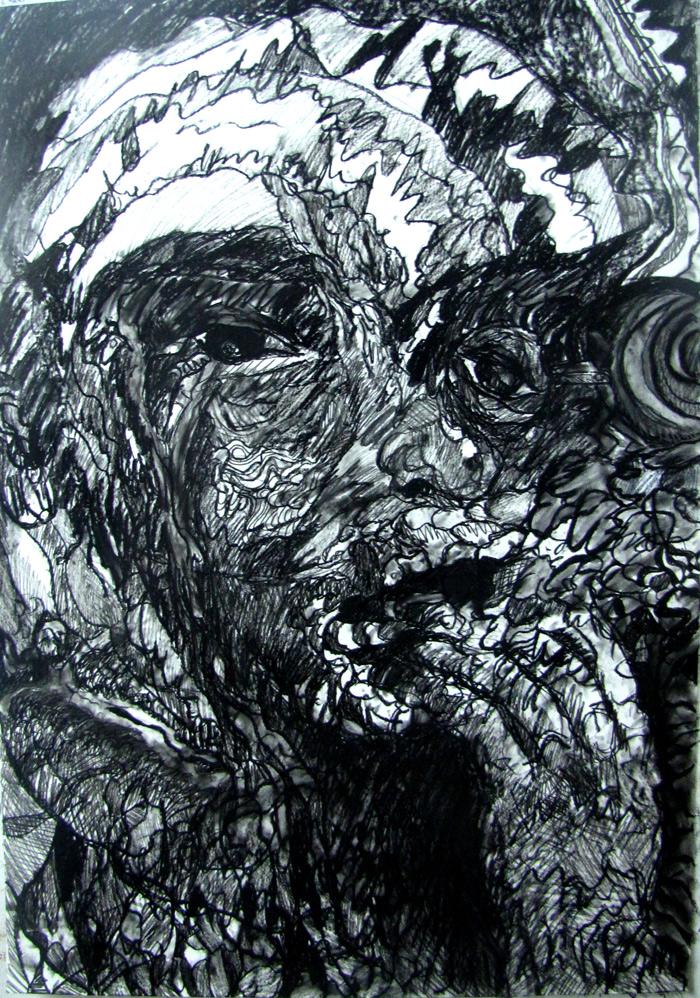 La-Rueda-del-Hambriento-(Cesar-Vallejo)---Carbon-sobre-Folcote-2012