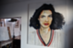 Painting Bianca Jagger by Alexande Koning