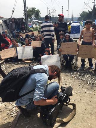 Working in Edomeni Refugee Camp