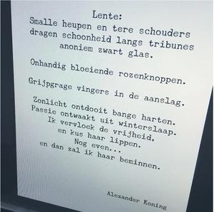 'Lente' Gedicht Alexander Koning
