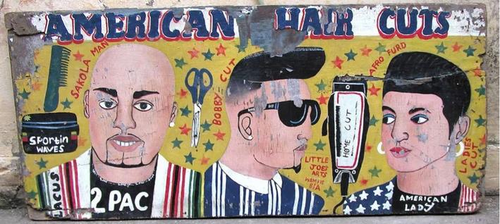 'African barber sign'