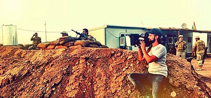 Alexander Koning doing camerawork in Iraq