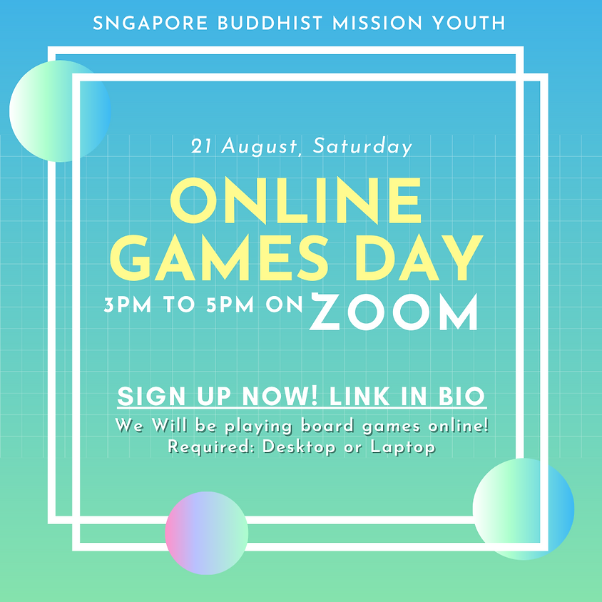 SBM Youth Online Games Day!