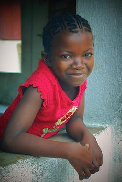 Girl in red, Makeni