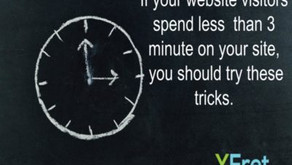 Try these tricks if your time on site is less than 3 minutes.