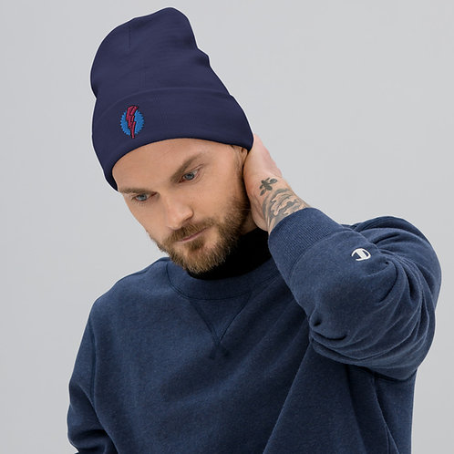 Embroidered RAD Beanie - Navy