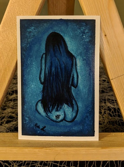 """""""Lady Blue with the DF Tattoo"""" Print"""