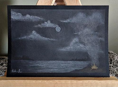 Campfire Sketch by Ash. L. - Framed
