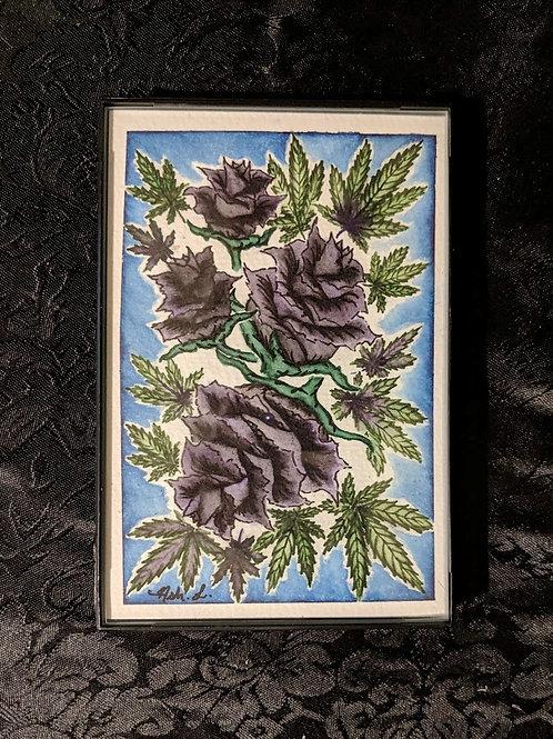 """""""Rosebuds"""" by Ash. L. -Framed Original"""
