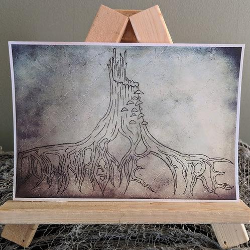 """Downhome Design"" White Print"