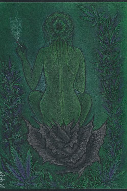 """The Green Goddess"" by Ash. L. - Framed Original"