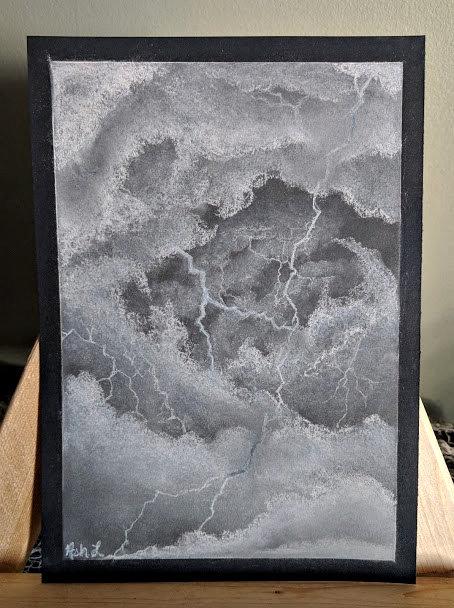 Stormy Sketch by Ash. L - Framed