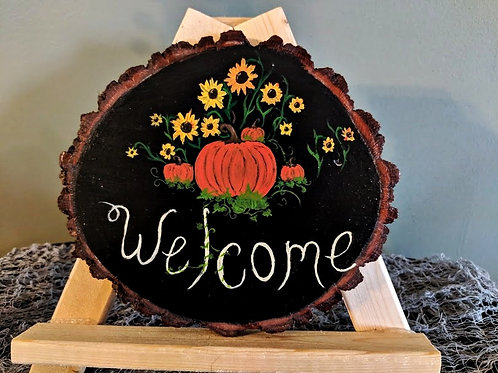 """Welcome"" Wood Sign"
