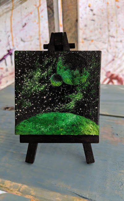 A mini emerald galaxy - Ash. L.