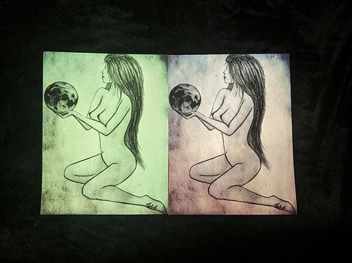 """Lady Gaia"" print"