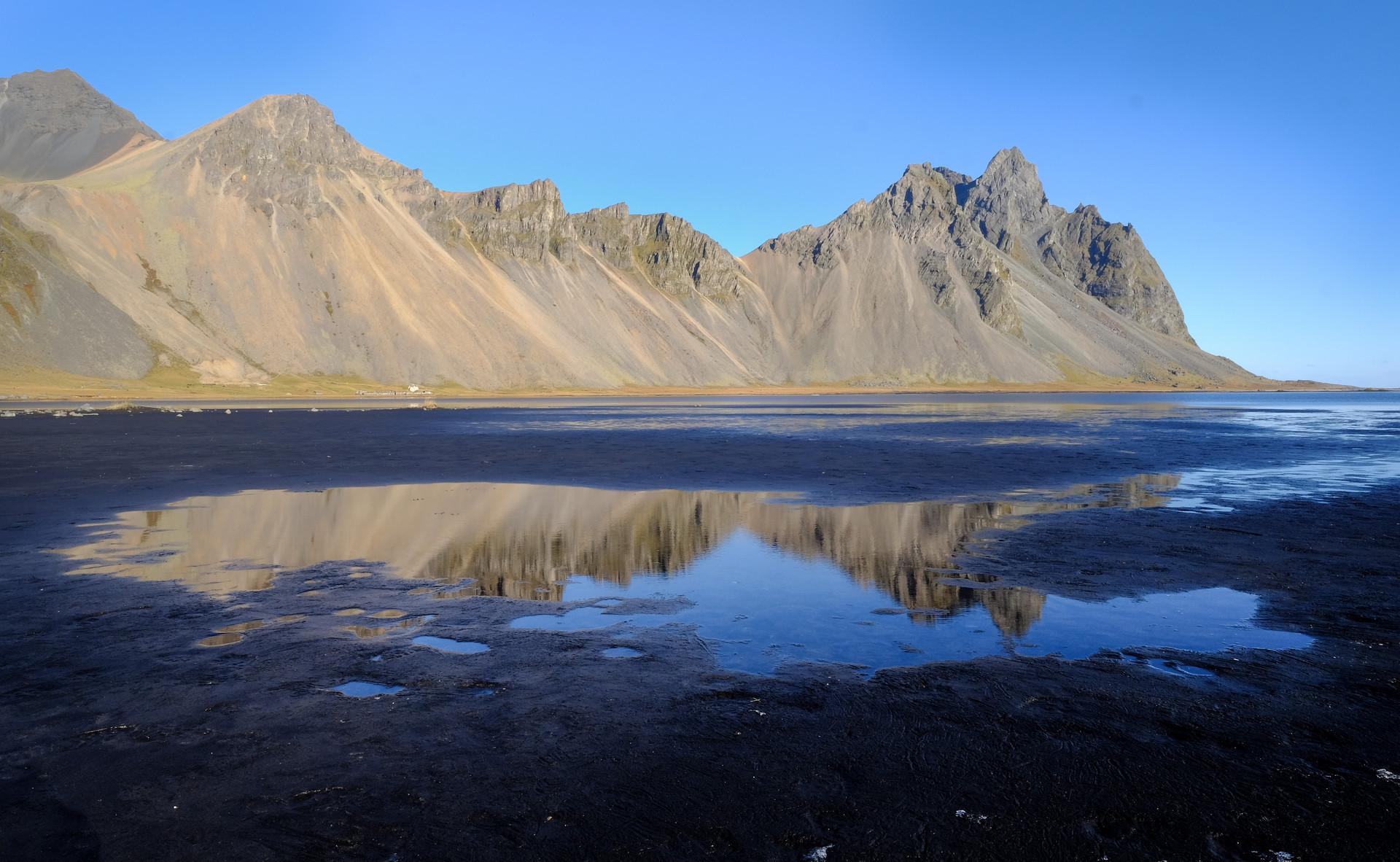 Vestrahorn Iceland at Stokksnes