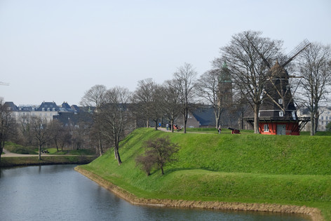 the windmill-The Old Citadel - Kastellet