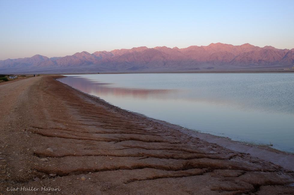 Salt lakes at Eilat, south of Israel