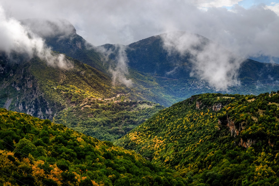 clouds over zagori mauntains, greece