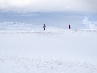 Iceland. Couple in the void