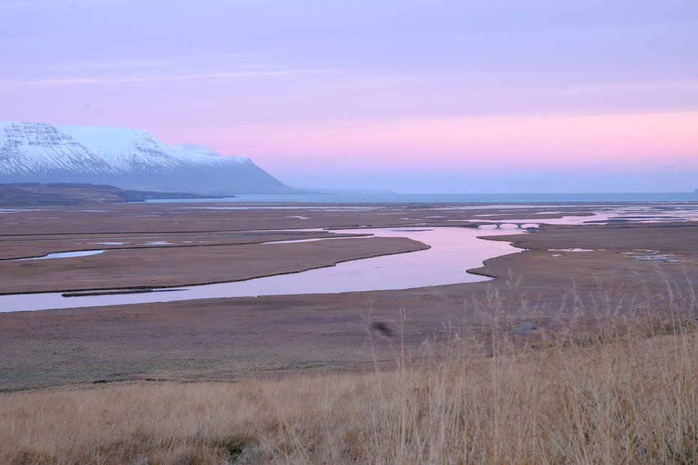 Sunrise in nothern Iceland