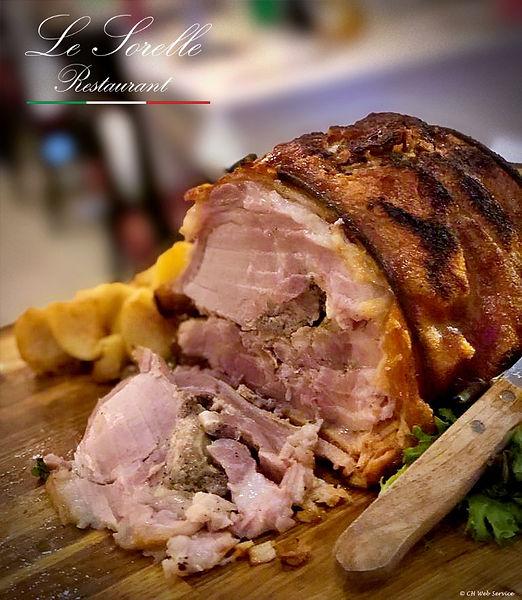 porchetta - Le Sorelle restaurant Delray Beach