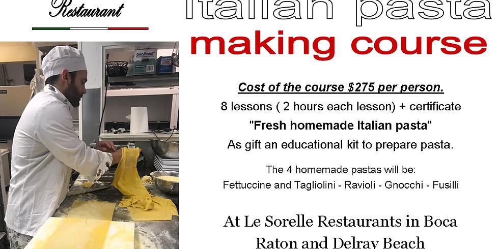 Delray Beach - Homemade Italian Pasta making course