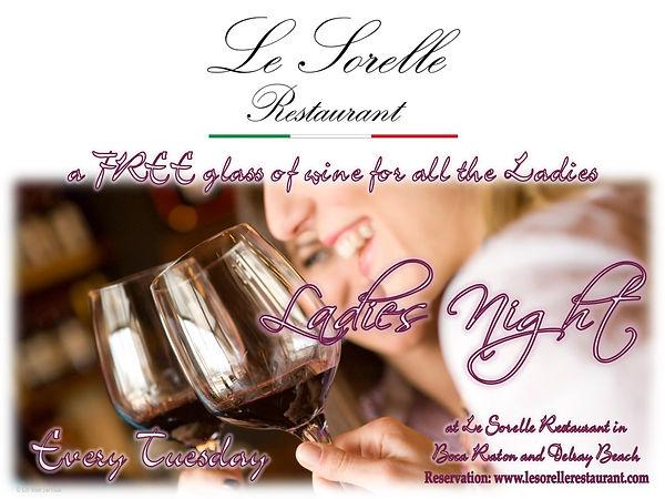 ladies night - Le sorelle restaurant Boca Raton