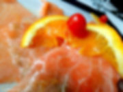 Salmon Carpaccio-Le Sorelle restaurant in boca raton and delray beach