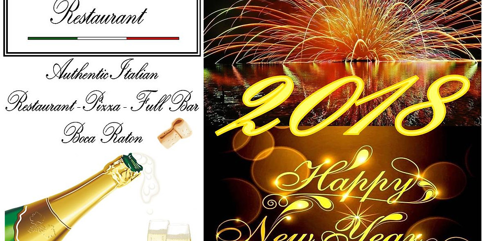Happy new year 2018-Le Sorelle Restaurant-Authentic Italian-Pizza-Wine and full Bar-Boca Raton