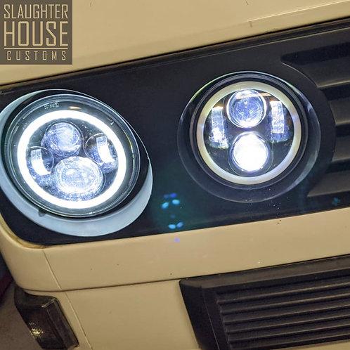 SHC VW T25 LED Headlamp Set - WorkShop Install