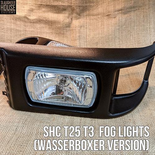 SHC T25 T3 Vanagon Front Grill Fog Lights - Textured (Wasserboxer Version)
