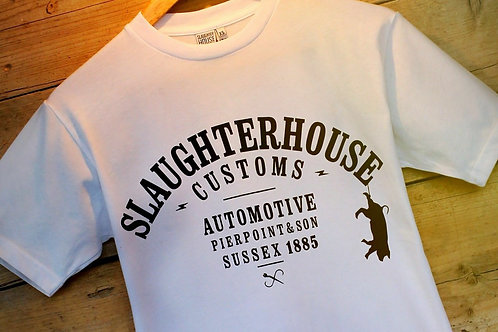 Slaughter House Customs, SHC, Classic T-Shirt, White