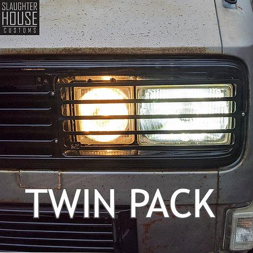 VW T25 T3 Vanagon SHC Square Head Light & Rear Light Guard TWIN PACK