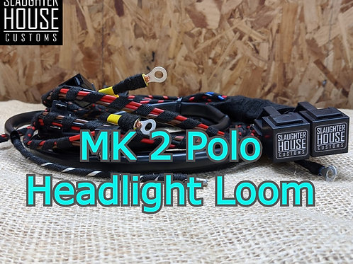 SHC VW Mk2 Polo, Round Headlight Relay, Wiring Loom, Upgrade